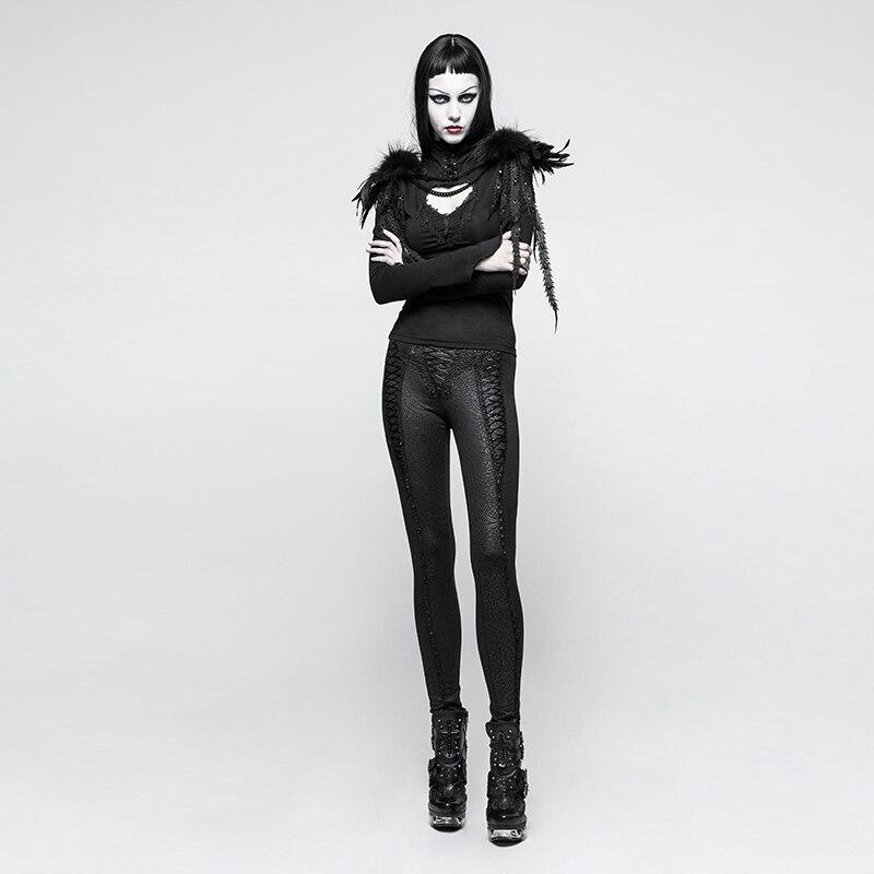 Плиссированные Черные универсальные эластичные леггинсы брюки карандаш узкие Формальные Брюки Бесплатная доставка - 4