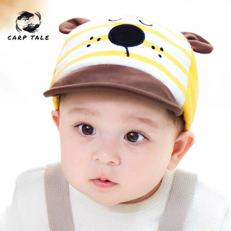 NEW Cute Infant Hat Unisex Baby Boys Girls Caps Sunhat Kids Summer Comfortable Bongrace HatCat Kitten Cartoon Print Peak Cap in Hats Caps from Mother Kids