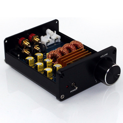 Mini Digital Audio Power Amplifier HiFi TPA3116 2.0 Stereo Music 2-Channel 50W*2 Black Chassis Power Amplifier