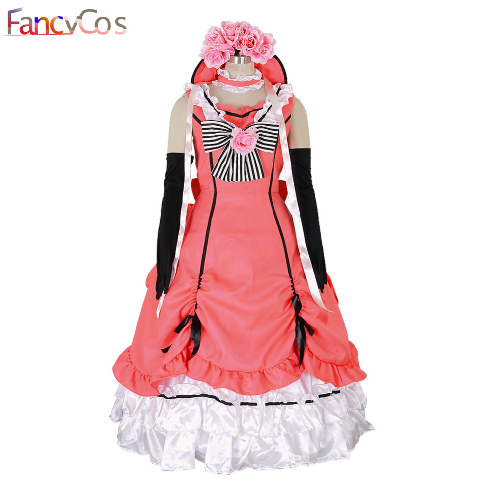 Halloween New Black Butler Costume Kuroshitsuji Ciel Cosplay Costume Lolita Party Dress