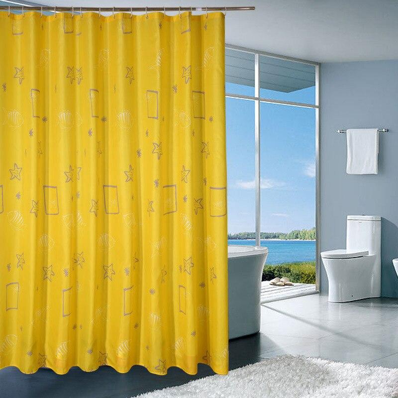Bathroom shower curtain waterproof thickening mildew bathroom high - grade partition cur ...