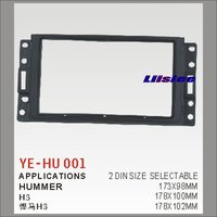 For Hummer H3 Car Stereo Radio ABS Fascia Plate Panel Frame Kit / Stereo Facia Surround Install Trim Fit Dash