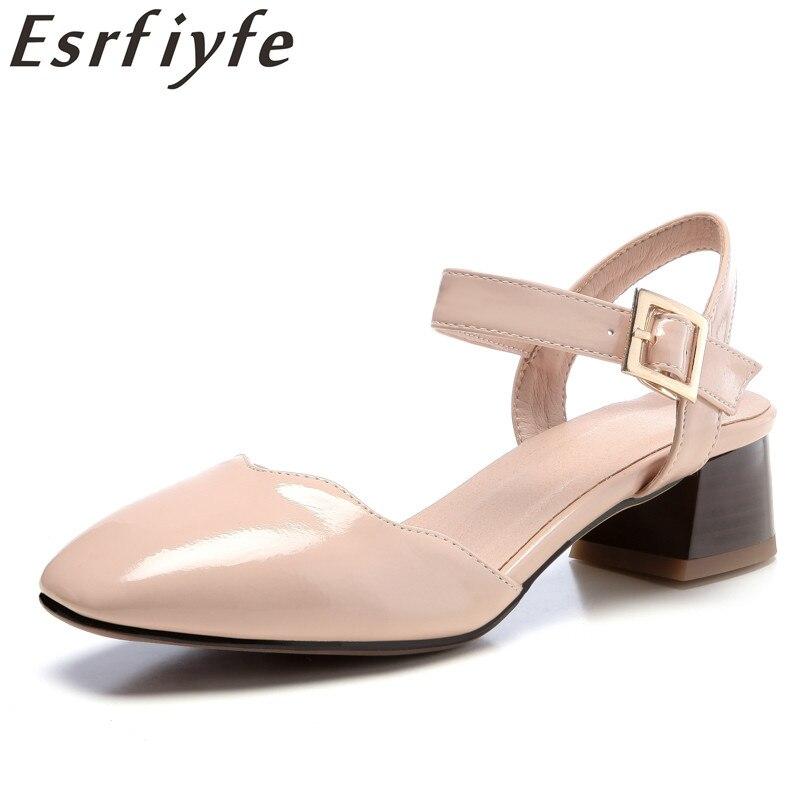 b7c4648958ba81 Mode Talons Carrés Sandales Romaines Femmes Sandale Mujer 2018 Nouveau D'été  Vente Flip Chaussures Esrfiyfe blanc De Chaude ...