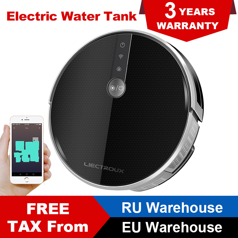 LIECTROUX C30B Robot Vacuum Cleaner 3000Pa Suction 2D Map Navigation Map Show on WiFi App 0
