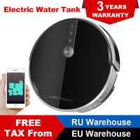LIECTROUX C30B Robot Vacuum Cleaner 3000Pa Suction 2D Map Navigation Map Show on WiFi App 0.35L Electric Water Tank 0.6L Dustbin