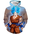 Men Women Fashion Long Sleeve Outerwear Hoodie Dragon Ball Z Goku Hooded Sweatshirts Anime 3D Sweatshirt Hoodies Pullovers