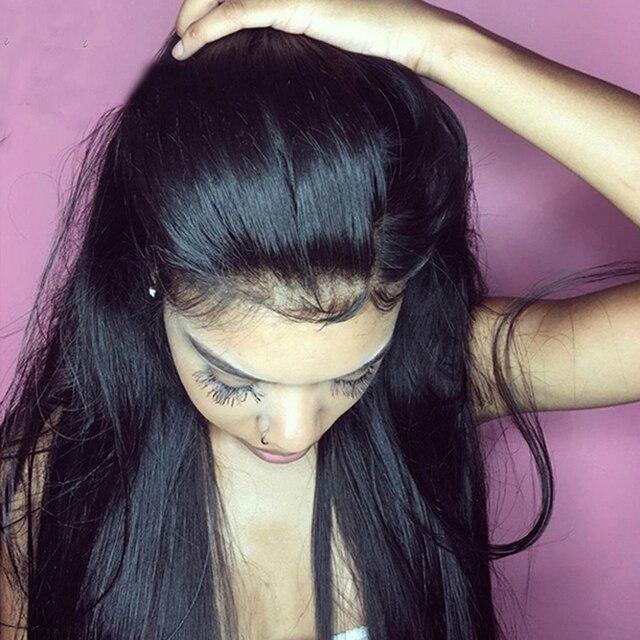 Safira 360 Peruano Laço Frontal Peruca Reta Perucas 360 Do Laço Frontal Perucas de Cabelo Humano Para As Mulheres Negras Parte Dianteira Do Laço Humano perucas de cabelo