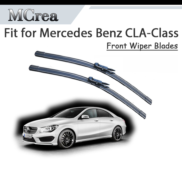 US $17 26 20% OFF|MCrea Car Rubber Front Windshield Cleaning Wiper Blade  For Mercedes Benz CLA Class CLA 180 200 250 220 CLA45 AMG CDI  Accessories-in
