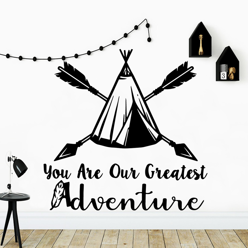 Creative adventure Wall Decals Home Decor For Kids Rooms Background Art Decal