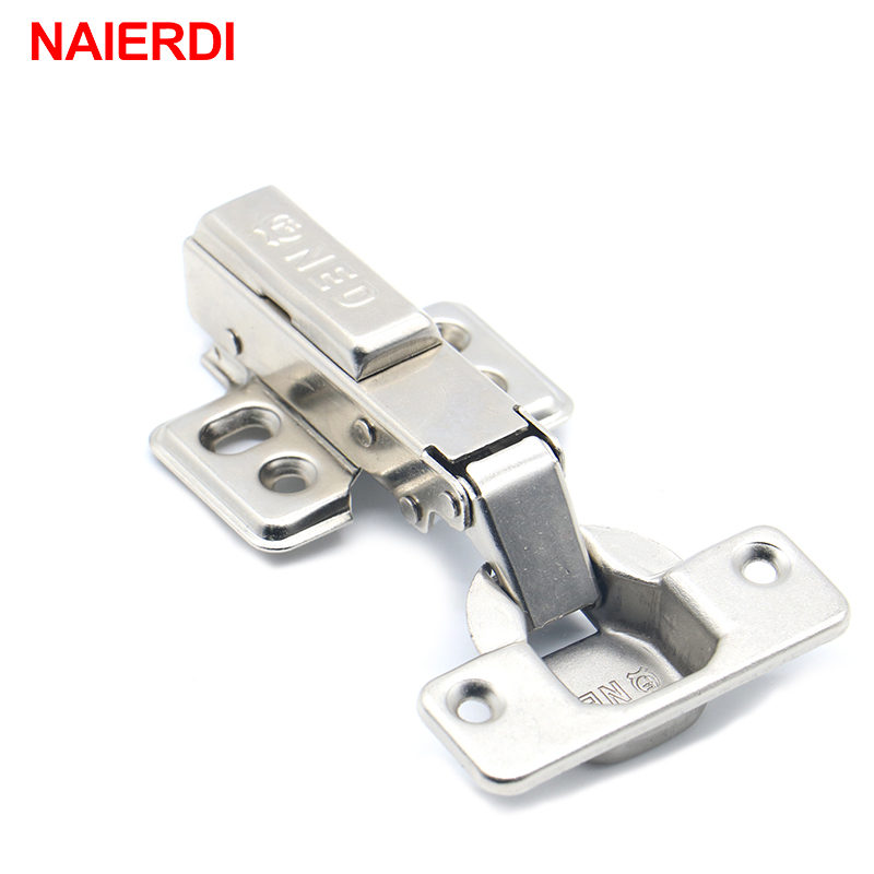 4PCS NAIERDI 40MM Cup Furniture Hinge Rustless Iron Hydraulic Hinges For Damper Buffer Cabinet Cupboard Door Soft Close Hardware stainless steel door hinges hydraulic buffer automatic closing door spring hinge 125 78mm furniture cabinet drawer hardware