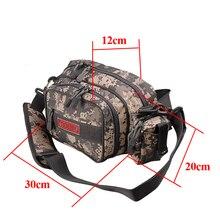 NOEBY Fishing Bag 30x12x20cm Canvas Waterproof Fishing Tackle Bag  Bolsa De Pesca Outdoor Waist Shoulder Sport Bags Borsa Pesca