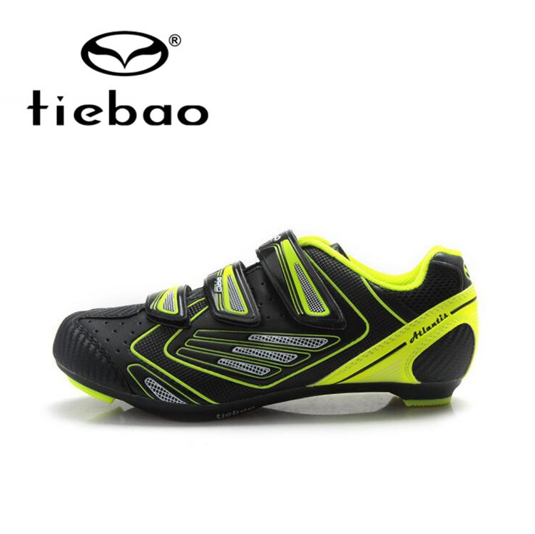 Tiebao Professional Bicycle Cycling Shoes Men Road Bike Self-Locking Shoes Breathable Athletic Shoes Zapatillas Zapato Ciclismo santic men road cycling shoes outdoor sports breathable road bike shoes auto lock bicycle shoes zapatillas ciclismo