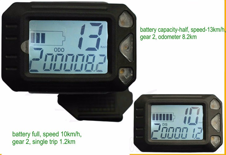 display for scooter with throttle smaller size