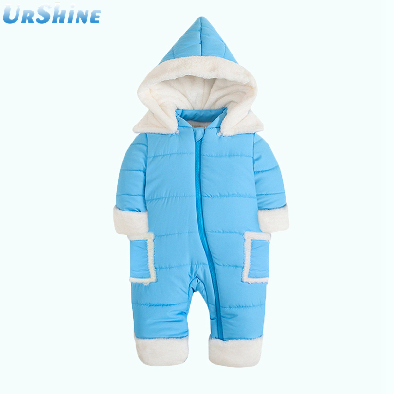 2018 New Fasion Warm Baby Boy Jumpsuit Girl Thick Hoodies New Born Snow Ropa Clothing Sets Cotton 6 Months Tops And Pants
