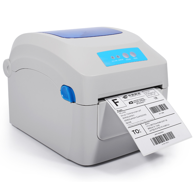 Hight quality Thermal label shipping address printer Thermal lable barcode printer  print width 104mm for Express and logistics 2017 new arrived usb port thermal label printer thermal shipping address printer pos printer can print paper 40 120mm