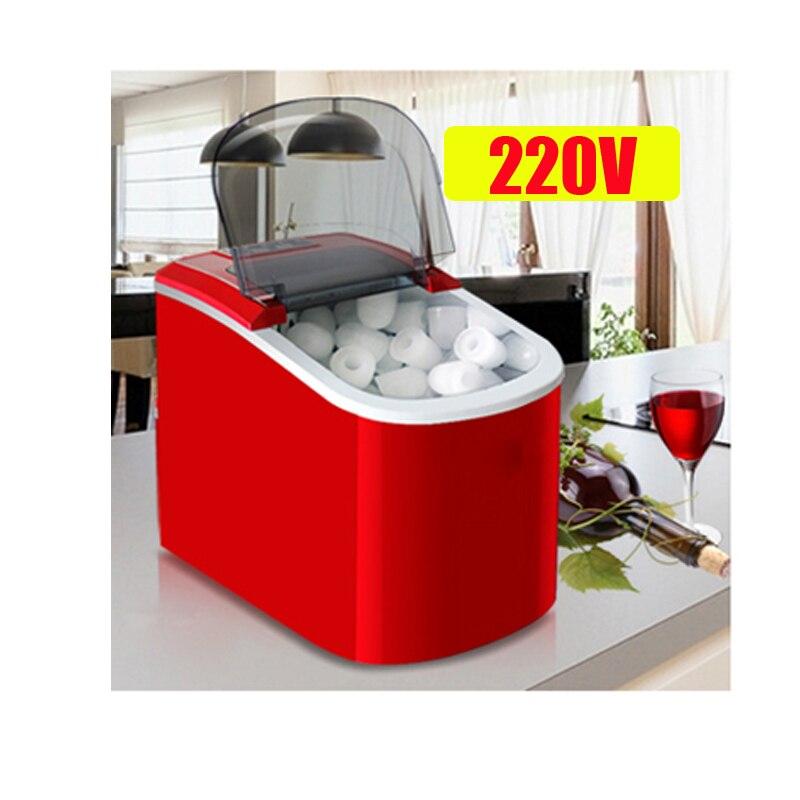 Machine à glace électrique à la maison de glace de balle de Machine à glace de 15 KG/24 H Machine de fabrication de glace ronde grand Bar café Teamilk Shop 220v rouge/argent - 2