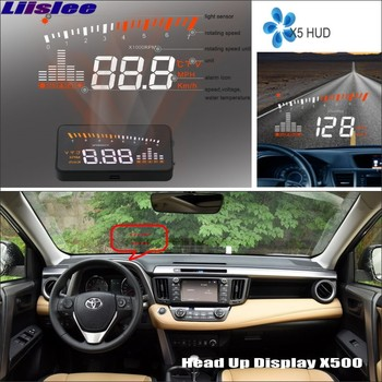Car HUD Head Up Display For Toyota RAV4 2017 2018 2019 2020 AUTO HUD Refkecting Windshield Safe Driving Virsual Screen Projector