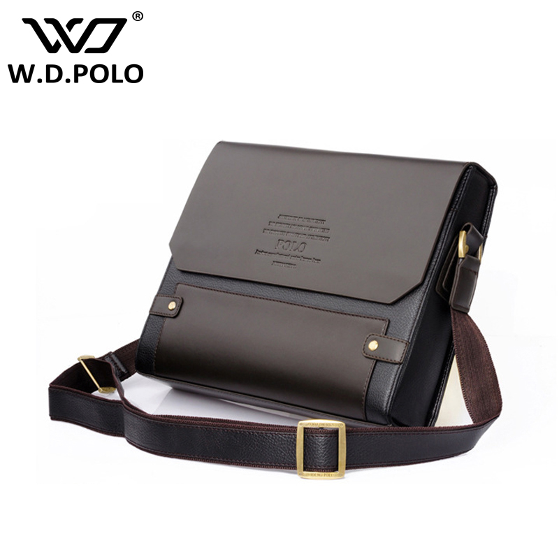 WDPOLO Men Pu Leather shoulder