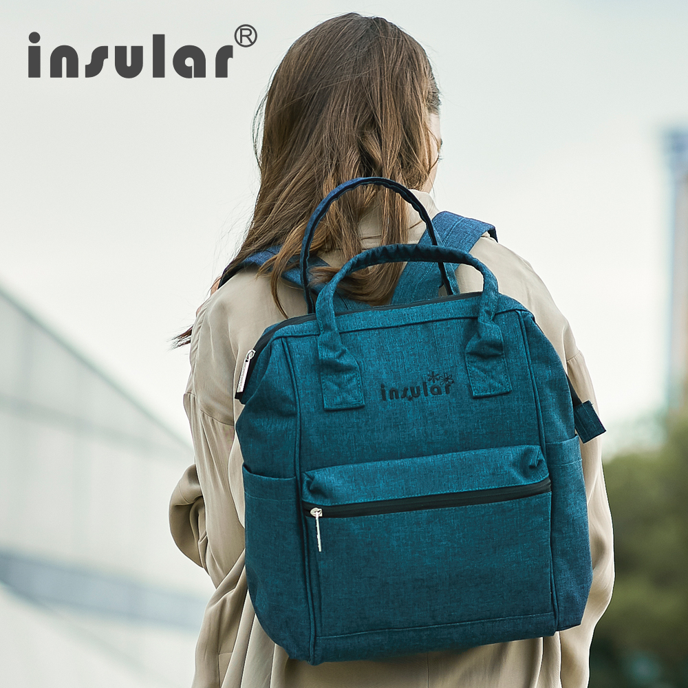 Insular Baby Diaper Bag Backpack Nylon Fashion Mummy Nappy Bag Multi functional Diaper Bags for Baby Care Large Travel Backpack insular fashion nappy diaper bag backpack mother bags baby stroller mummy bag multi functional nylon large capacity travel bags