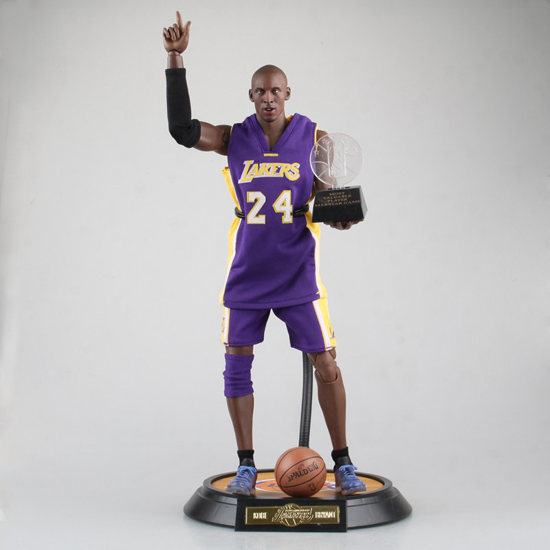 XINDUPLAN Kobe Bryant NBA Lakers 24 MVP ALL Star Game Action Figure Toys 1/6 34cm Large PVC Gift Collection Model 1047 trevor ariza autographed signed 8x10 photo lakers nba finals free throw coa