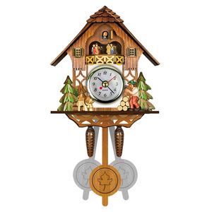 Antique Wooden Cuckoo Wall Clock Bird Time Bell Swing Alarm Watch Home Art Decor Home Day Time Alarm 129x231x55mm TB Sale(China)