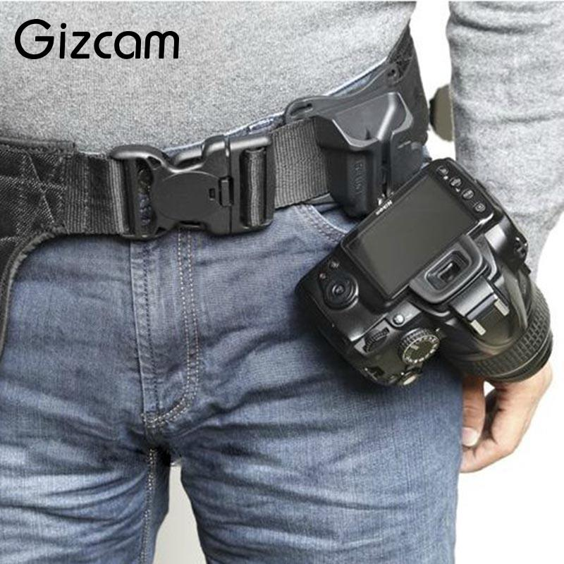 Gizcam Fast Loading Camera Photo Holster Waist Belt Buckle Button Straps Accessories For DSLR Camera цена