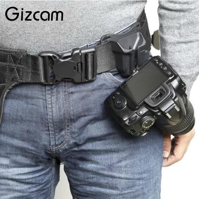 Gizcam Fast Loading Camera Photo Holster Waist Belt Buckle Button Straps Accessories For DSLR Camera