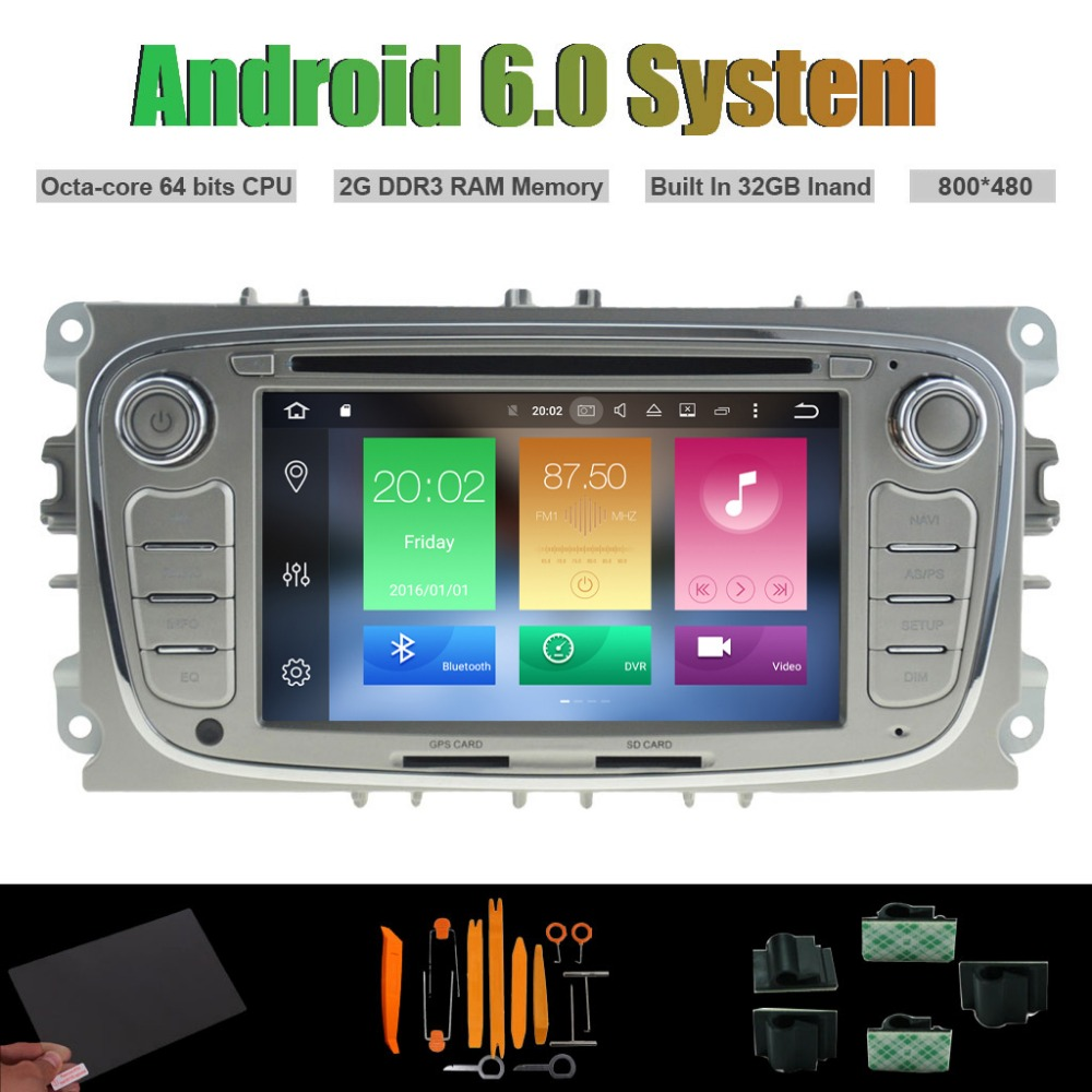 Android 6.0 Octa-core CAR DVD PLAYER for FORD MONDEO FOCUS S-MAX GALAXY Auto Radio RDS STEREO WIFI 2G RAM 32GB Inand Flsh
