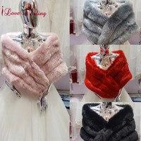2018 Women Bolero Bridal Shawl Faux Fur Wrap Wedding Cape Bridal Shawl Fur Cape Winter Bridal One Size Fashion Wraps