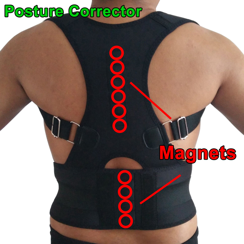 Magnetic Therapy Shoulder Back Support Belt for Men Women Posture Corrector Brace Lumbar Supports Belt Posture Corsets Plus Size