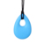 10 unid Multi Colores de Bebé de Silicona Mordedor ÁNGEL Lagrima Encantos Pendientes Colgantes Masticar Dentición Collar con Cuerda 68x45x12 MM
