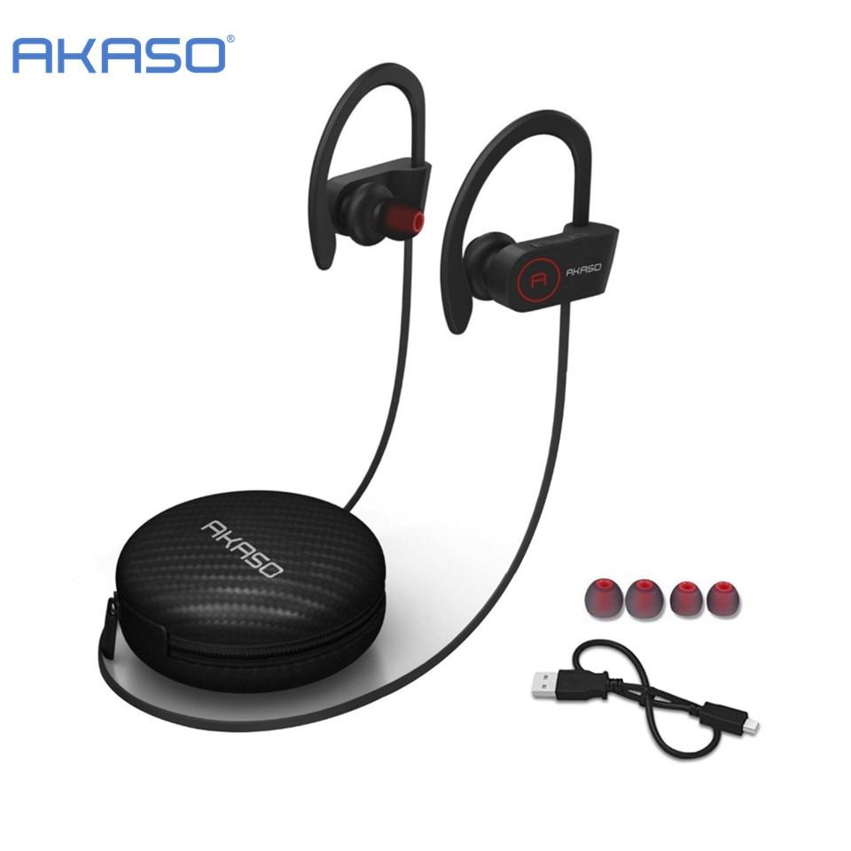 AKASO A1 IPX6 waterproof Sweatproof Wireless Bluetooth Earphone in ear Sport Stereo headset with Microphone for phone computer 4x akaso mt2204 2300kv motor