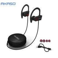 AKASO A1 IPX6 Waterproor Sweatproof Wireless Bluetooth Earphone In Ear Sport Stereo Headset With Microphone For