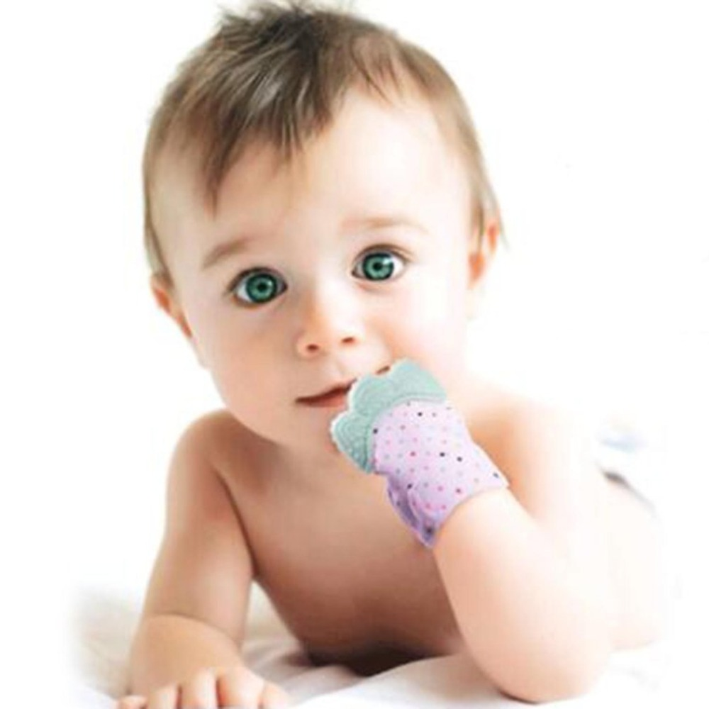 Silicone Baby Teether Pacifier Glove Natural Thumb Sound Teething Chewable Nursing Beads Child Give Up Sucking Fingers Hot Sale in Baby Teethers from Mother Kids