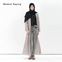 Elegant Grey Chiffon Long Sleeves Wedding Boleros 2018 Muslim Bridal Jackets Long Coat for Mother dresses Wedding Accessories