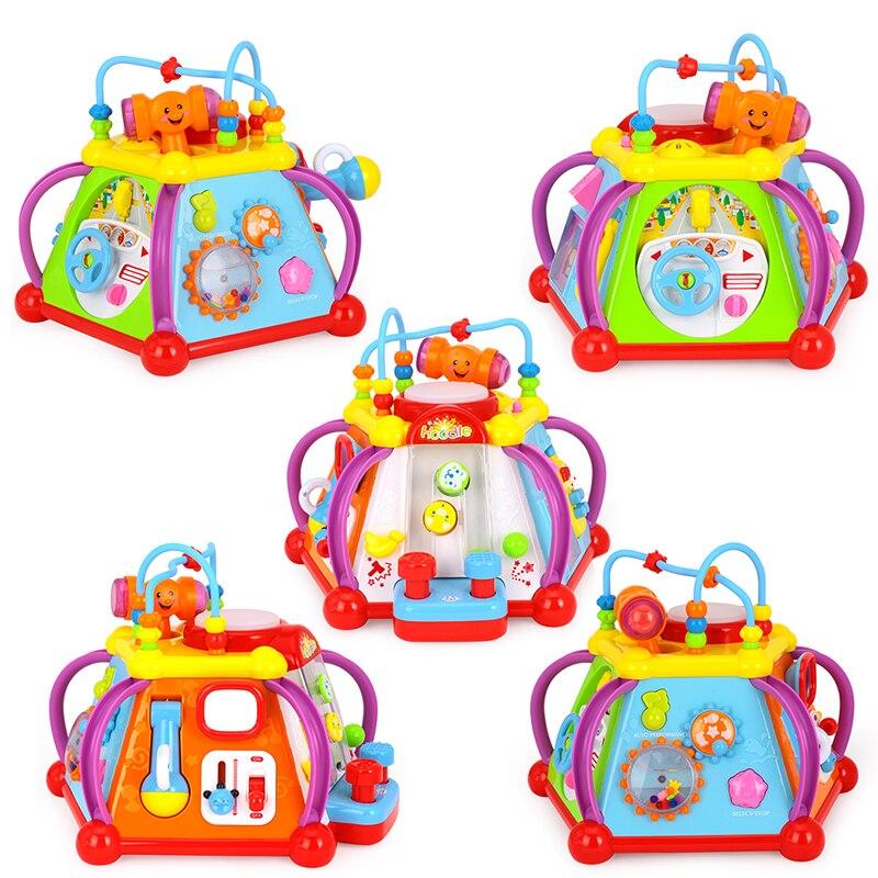 HOLA 806 bébé jouets activité musicale Cube jouet apprentissage jeu éducatif jouer Center jouet avec lumières et sons jouets pour enfants - 3