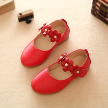 high quality pu leather children shoes cute rose red child birthday party shoes sapatos teenager girl soft bottom shoes