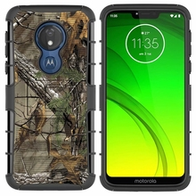 For Motorola MOTO G7 Power G7Power US Version Hybrid Heavy Duty 3 in 1 Military Camo Hard Shockproof Case Belt Clip Stand Cover