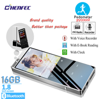 Original authentic CHENFEC brand built in 16GB MP3 player with Bluetooth sports pedometer support classroom recording,FM radio