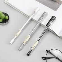 Novo 2 unidades/lotes caneta nova caneta gel 0.38mm tinta preta agulha cabeça ferramentas de escrita para estudantes escola corporativa