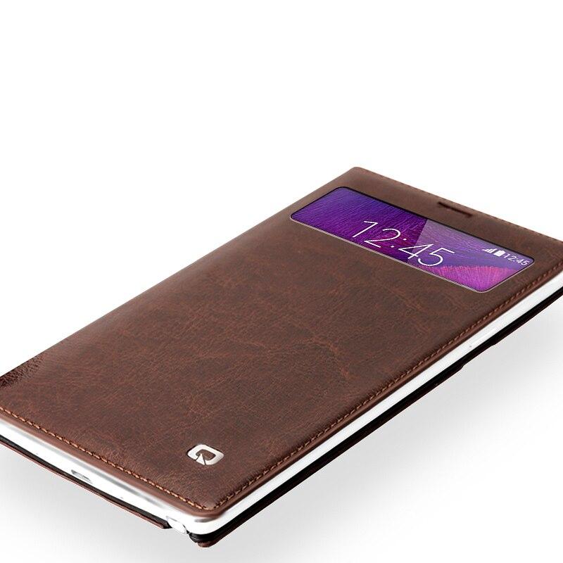Цена за Оригинал Qialino Флип Кожаный Чехол Для Samsung Galaxy Note 4 N9100 Роскошный Вид Телефон Мешки Обложка Для galaxy Note 4