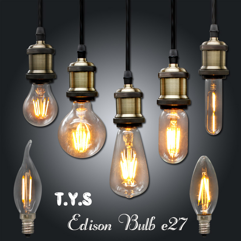 Ampoule Vintage LED Edison Light Bulb E27 E14 220V LED Retro Lamp 2w 4w 6w DIY LED Filament Light Edison Pendant Lamps Bombillas