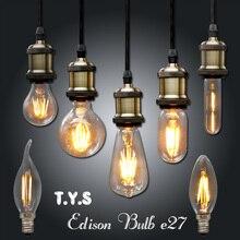 Ampoule Vintage LED Edison Light Bulb E27 E14 220V LED Retro Lamp 2w 4w 6w DIY LED Filament Light Edison Pendant Lamps Bombillas