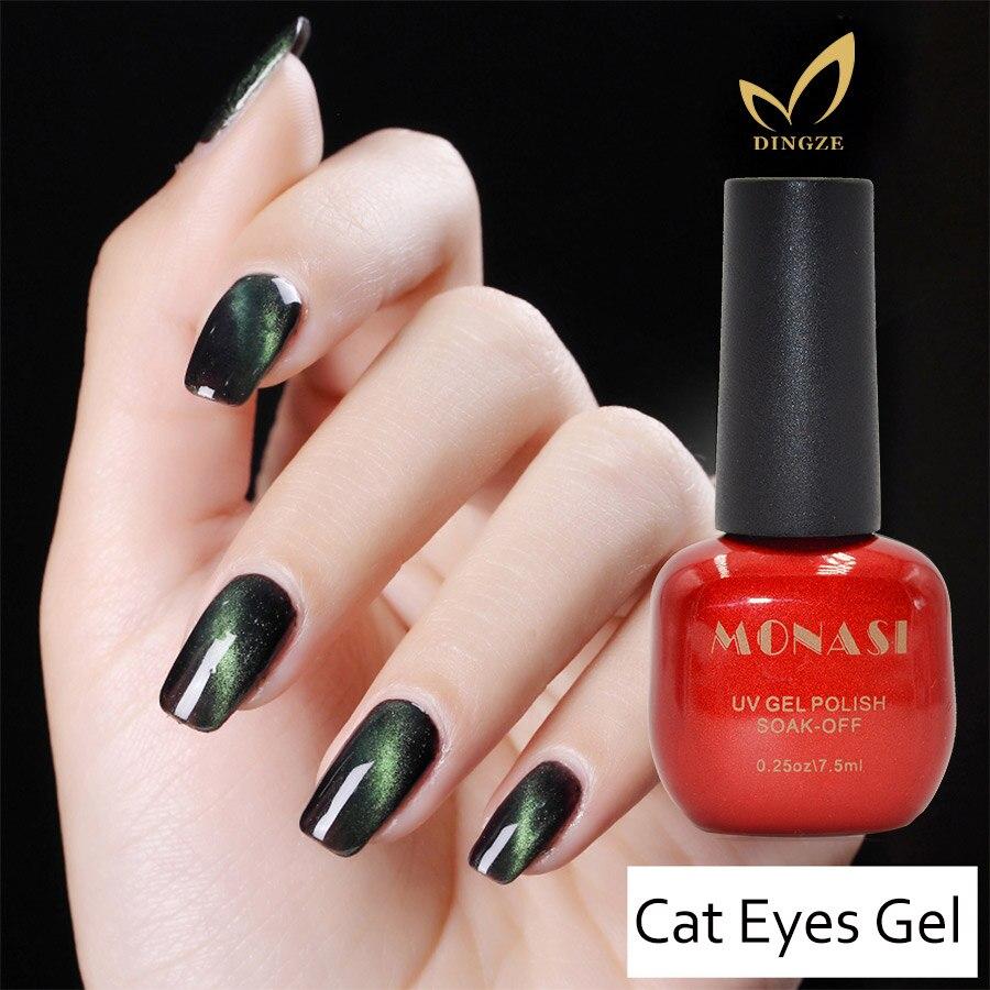MONASI UV LED Gel Cat Eye Gel Nagellak Voor Magnetische Kat ogen ...
