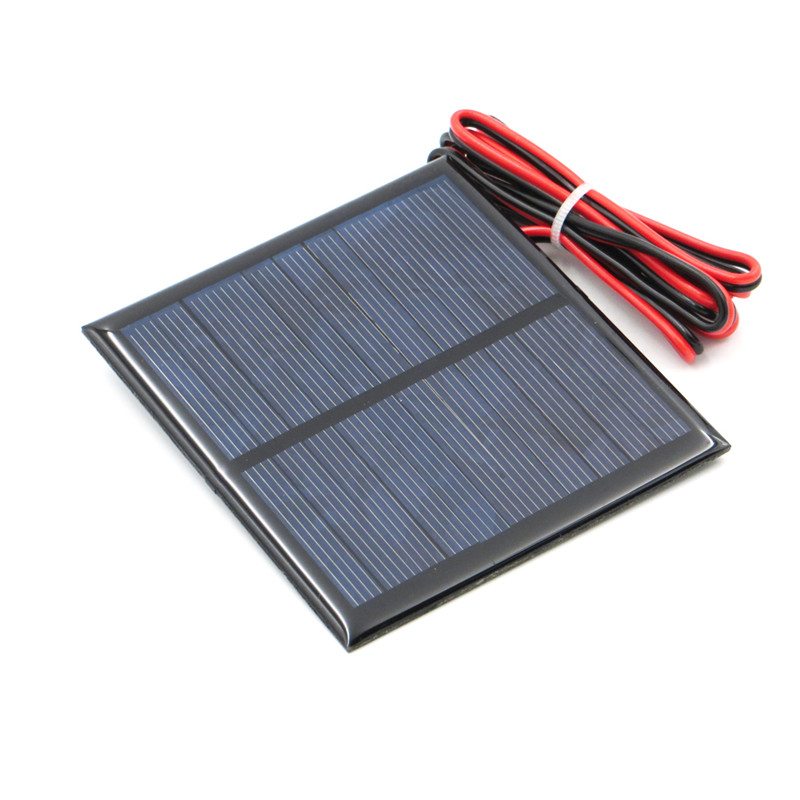 Fansaco 5.5V 160mA Portable Solar Panel Polycrystalline Silicon DIY Battery Sunpower Panel Power System Solar Cell With Cable
