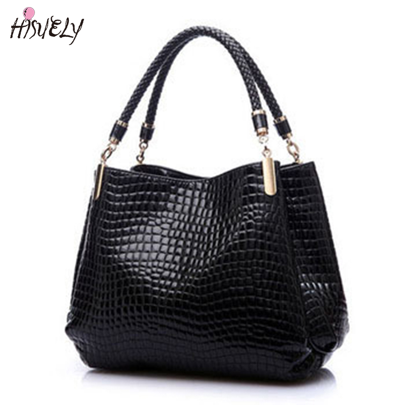 2017 New Fashion Leather bolsas femininas Women Bags Shoulder Bag Female Tote Sac Crocodile Bag messenger bags BAG5091 Hot Sale 2017 hot sales female fashion women cute messenger bags rivet shoulder bag leather crossbod new brand a8