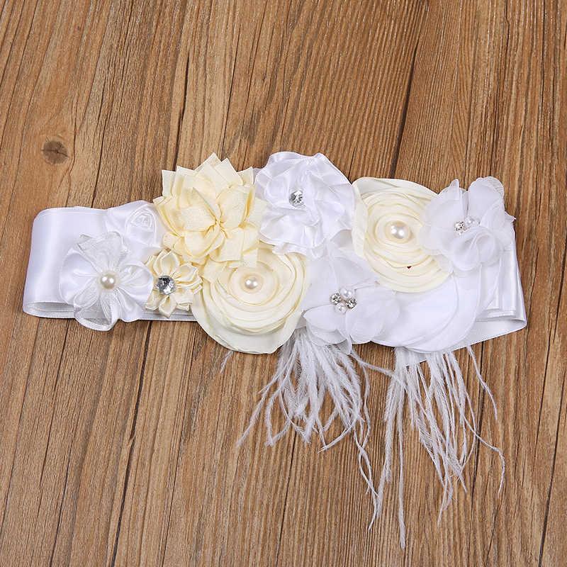 Kinder Gürtel Mädchen Satin Bänder Strass Blume Gürtel Schärpe Mädchen Kleid Kleid Schärpe Zubehör Kinder Hochzeit Blume Mädchen Gürtel