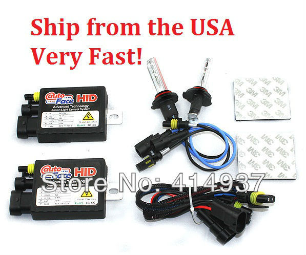 XENON HID KIT 35W 12V 813A Ballast HID KIT H1 H3 LH4 H7 H8/H9/H11 Single Beam Lamp Color 4300k 6000k 10000k Ship from USA