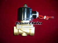 Free Shipping Two Way Valve 1 2 Brass Solenoid Valve Normally Closed For Water 2W160 15