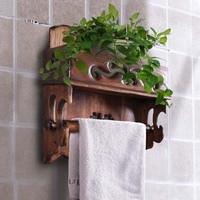 Thai solid wood kitchen towel holder roll holder Creative retro toilet paper towel holder roll holder LO5311141